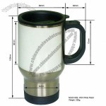 Stainless Steel Auto Mug with Patch Sublimation Mugs