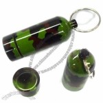 Stainless Steel Camouflage design Moisture-proof Gallipot - Pill Box Keyring