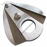 Stainless Steel Cigar Cutter in Double Blades