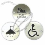 Stainless Steel Circular Sign Plate with Finishes