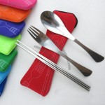 Stainless Steel Cutlery Set Neoprene Pouch