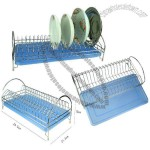 Stainless Steel Dish Rack with Plasitc Base