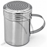 Stainless Steel Dredge Shaker with Handle 10 OZ