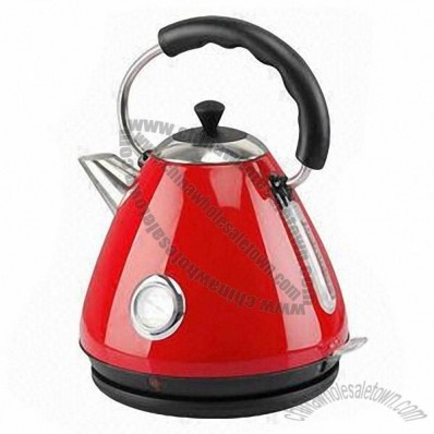 Stainless Steel Electric Kettle with 1.7L Capacity and Meter