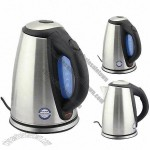 Stainless Steel Electric Kettle with Imported Strix Controller, 1.7L Capacity