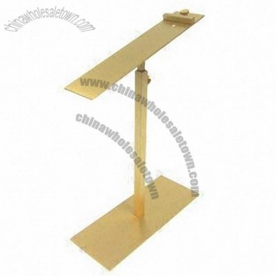 Stainless Steel Golden Jewelry Display Rack