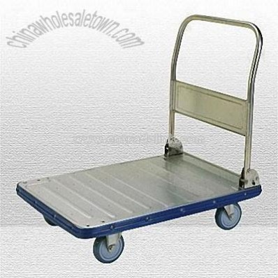 Stainless Steel Hand Truck with Folding Handle