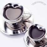 Stainless Steel Heart-Shaped Coffee Cup
