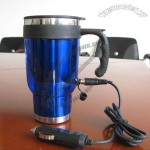 Stainless Steel Heater Travel Mug & Auto Mug with Car Charger / USB Interface