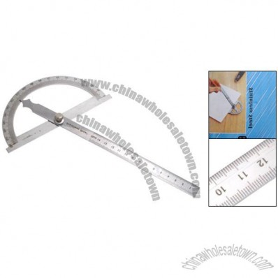Stainless Steel Lock Screw Fixed Protractor and Ruler