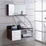 Stainless Steel Modern Bathroom Vanity with Mirrors