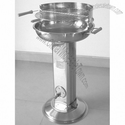 Stainless Steel Pedestal Barbecue Stainless