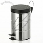 Stainless Steel Round Pedal Garbage Can / ash Bin