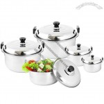 Stainless Steel Stock Pot Set - 5pcs