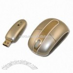 Stainless Steel Strip 3D Optical Wireless Mouse