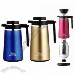 Stainless Steel Vacuum Coffee Pots with 1300 or 1600ml Capacity