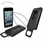 Stainless Steel with Slide Out Bottle Opener Plastic Cover for iPhone 5