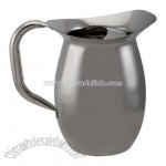 Stainless steel bell pitcher 2 1/4 quart with ice guard
