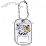 Stainless steel dog tag with bottle opener