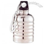 Stainless steel retro water bottle with easy clip carabiner