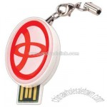 Standard Shaped Epoxy Dome Usb Flash Drive With Keyring