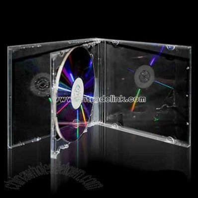 Standard double CD jewel case with clear tray