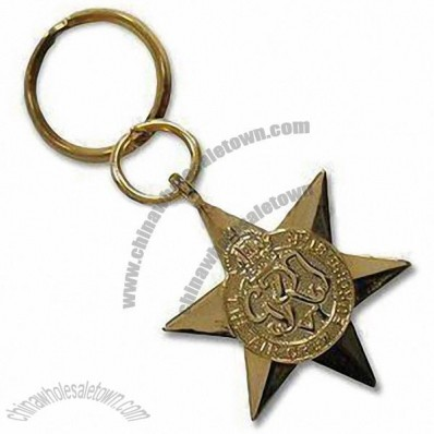 Star Metal Keychain