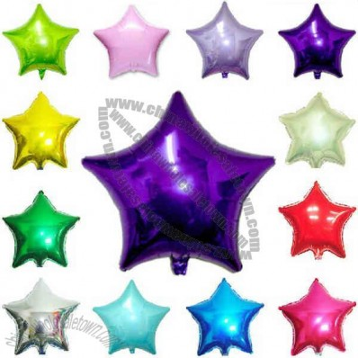 Star Mylar Balloons Are Made Of Foil