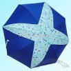 Star Patched Umbrella with Acrylic Hook Handle