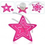 Star Shaped Insulation Silicone Coaster