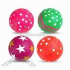 Star and Wave Design Rubber Balls