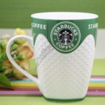 Starbucks Diamond Embossed Ceramic Mug