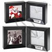 Stately Fold-Up Desk Clock & Photo Frame