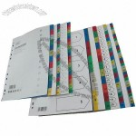 Stationery Colorful PP Index Dividers