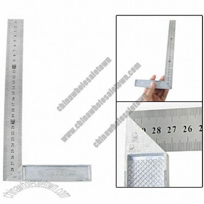 Steel Aluminum Dual Reading 30cm Scale Try Metre Square Ruler
