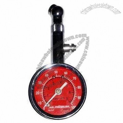 Steel Tire Pressure Gauge with PC Cover