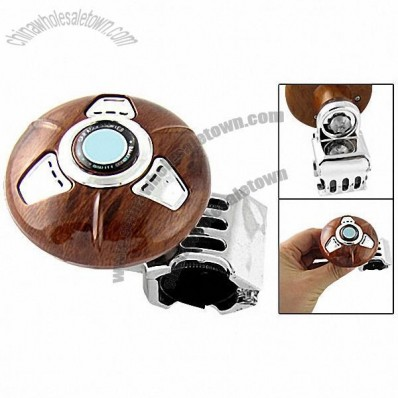 Steering Wheel Brown Round Spinner Knob Power Handle for Car