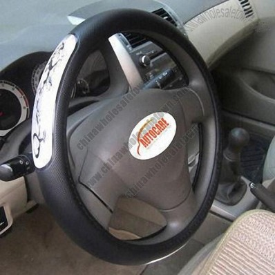 Steering Wheel Cover, Made of PU and Reflectors