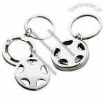Steering Wheel Metal Trolley Coin Keychains