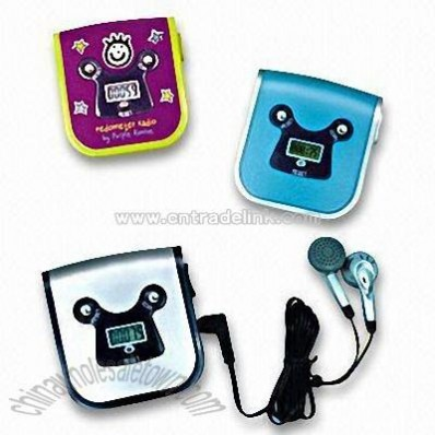 Step Pedometers with FM Auto Scan Radio and Earphone