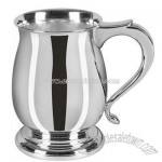 Sterling Silver One Pint Bellied Georgian Tankard