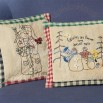Stitched Snowmen Pillows