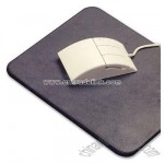 Stitched top grain leather mouse pad