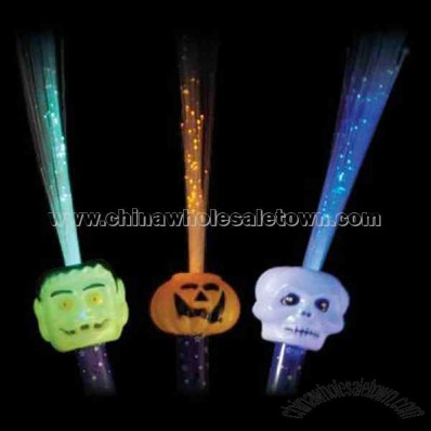 Stock fiber optic Halloween wand with multicolor LED lights