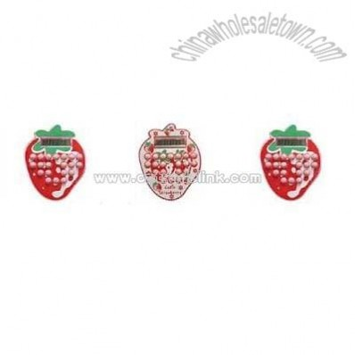 Strawberry Shape Cartoon Calculator