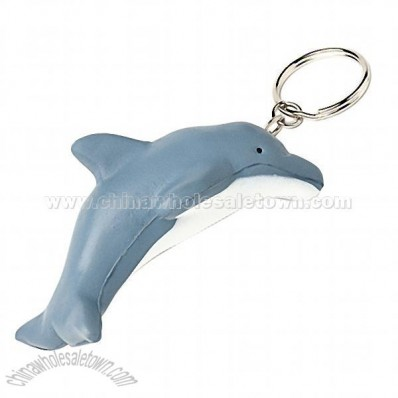 Stress Reliever-Dolphin Keyring