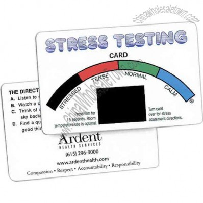 Stress testing cards with rainbow stock design