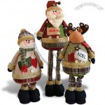 Stretchable Christmas Stuffed Doll - Telescopic Leg Plush Xmas Toys