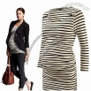 Stripe Bottoming Shirt Ladies Dress Maternity Clothes