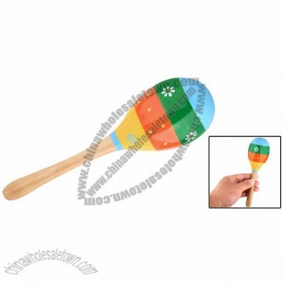 Stripe Style Children's Wooden Maracas Music Instrument Toy